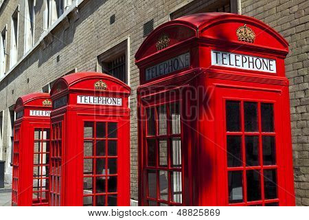 Red Telephone Boxes In London