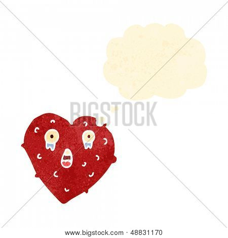 ugly cartoon love heart character