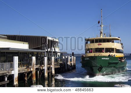 Sydney,australia March 13Th: The Ferry Narrabeen Arriving At Mnaly Wharf On March 13Th 2013. Ferries