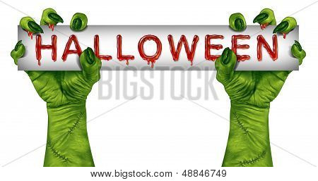 Halloween Zombie Sign