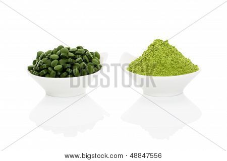 Wheat Grass And Spirulina.