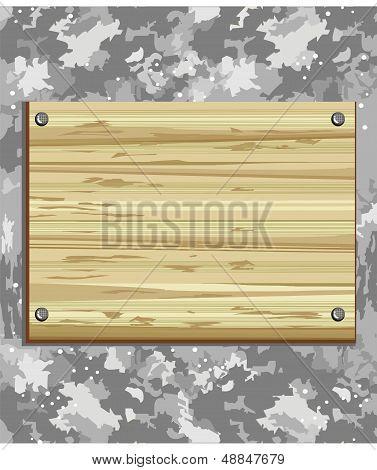 Placa de madeira.