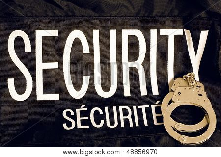 Security And Securite Vest With Handcuffs