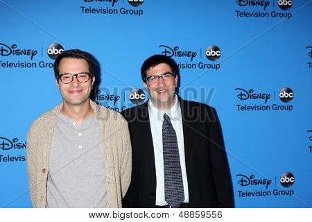 LOS ANGELES - AUG 4:  Edward Kitsis & Adam Horowitz arrives at the ABC Summer 2013 TCA Party at the Beverly Hilton Hotel on August 4, 2013 in Beverly Hills, CA