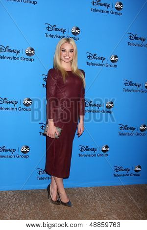 LOS ANGELES - AUG 4:  Emma Rigby arrives at the ABC Summer 2013 TCA Party at the Beverly Hilton Hotel on August 4, 2013 in Beverly Hills, CA