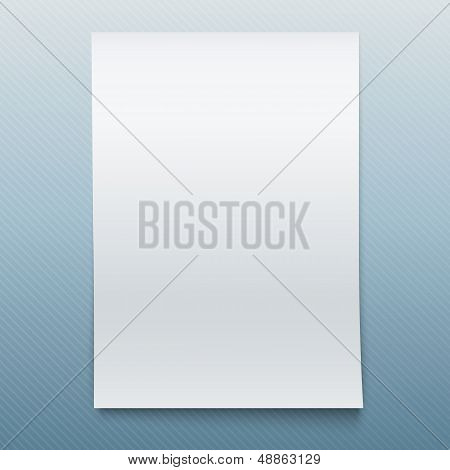 Blank Office Paper Mock-Up.