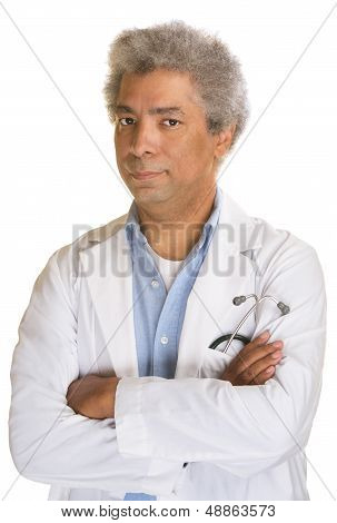Annoyed Mature Doctor