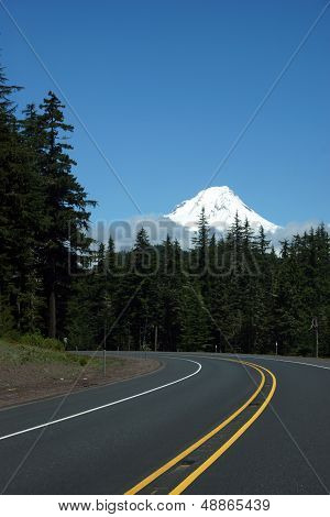 Mt. Hood From The Highway