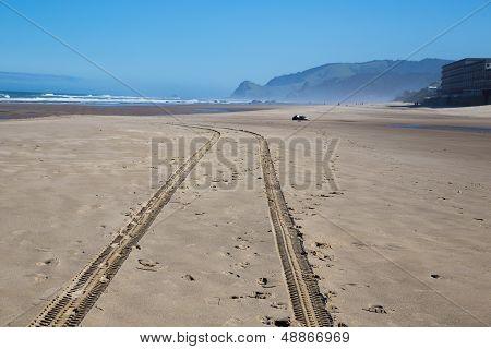 Beach Tire Tracks