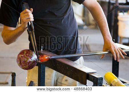 Glassblowing Detail