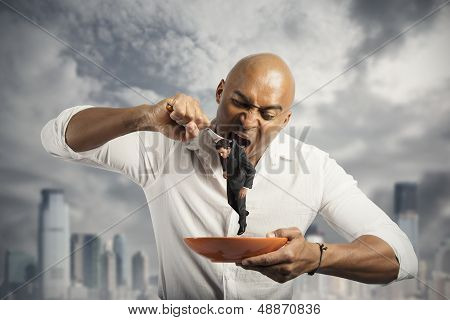 Hungry Businessman