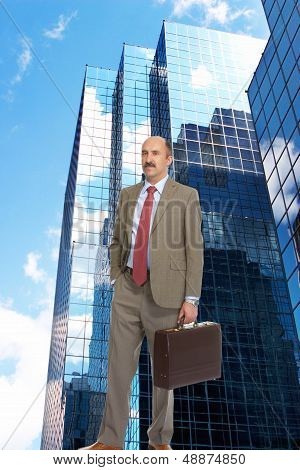Businessman And Skyscrapers