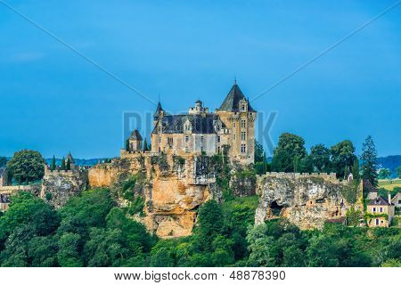 VITRAC, FRANCE - JUNE 23: exterior of Chateau de Monfort Souillac on June 23th, 2012 at Dordogne Perigord France