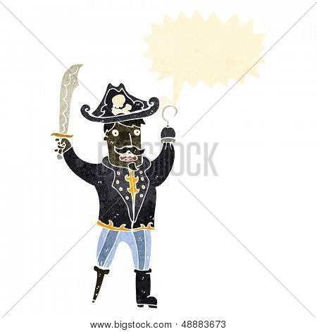 retro cartoon pirate captain