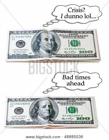 Optimistic or pessimistic 100 dollar set
