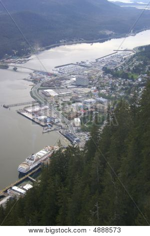 Juneau From The Top Of Mount Roberts