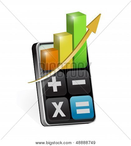 Calculator With Business Profits Illustration