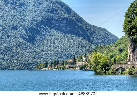 View At Scenic Lake Lugano