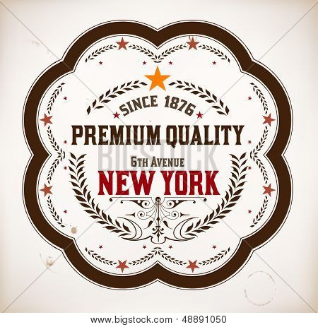 Premium Quality card. Baroque ornaments and floral details | Old paper texture background,