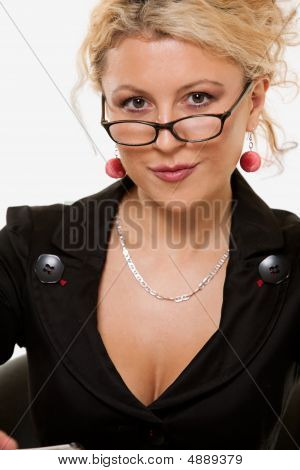 Woman In Eyeglasses
