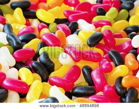 Colorful Sweet Jelly Beans
