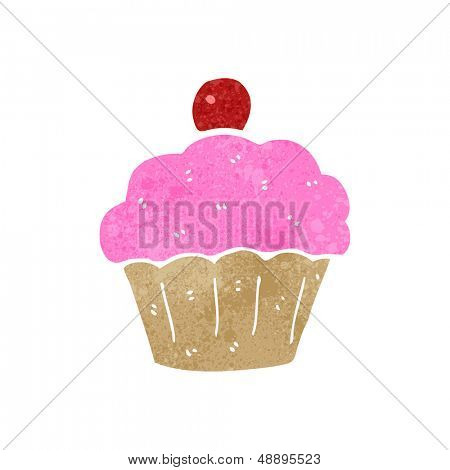 retro cartoon cupcake