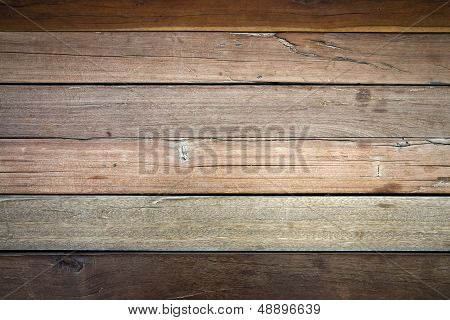 Texture Of Brown Wood Plank Wall