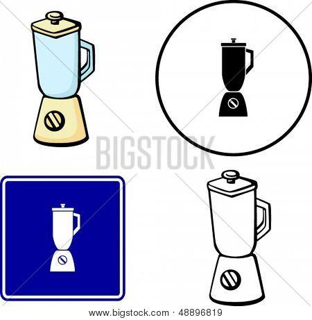 blender illustrations symbol and sign set