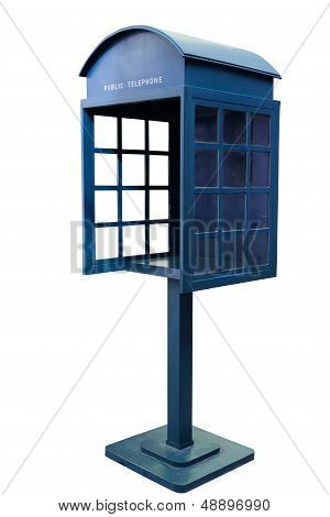 Blue Antique Phone Booth