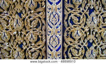 detail of temple's door,