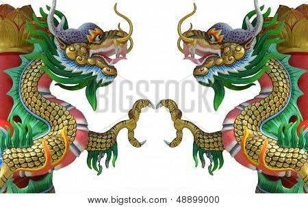 Chinese Style Twin Dragon