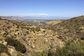 image of san fernando valley  - Rocky Peak Trails running eastward to San Fernando Valley Santa Susana Mountains CA - JPG