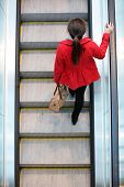 stock photo of escalator  - Urban people  - JPG