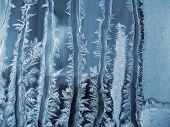 Frosty Natural Pattern On Window