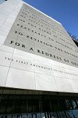 WASHINGTON, D.C. - JULY 29: An exterior view of the Newseum is shown on July 29, 2013 in Washington.