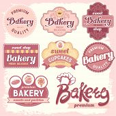 Vintage bakery badges and labels