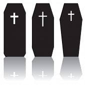 stock photo of coffin  - Coffins - JPG