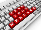 Постер, плакат: Клавиатура Отправьте ваше сообщение