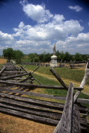 picture of rebs  - Rail fences along the Sunken Road at the Antietam National Battlefield American Civil WarMaryland - JPG