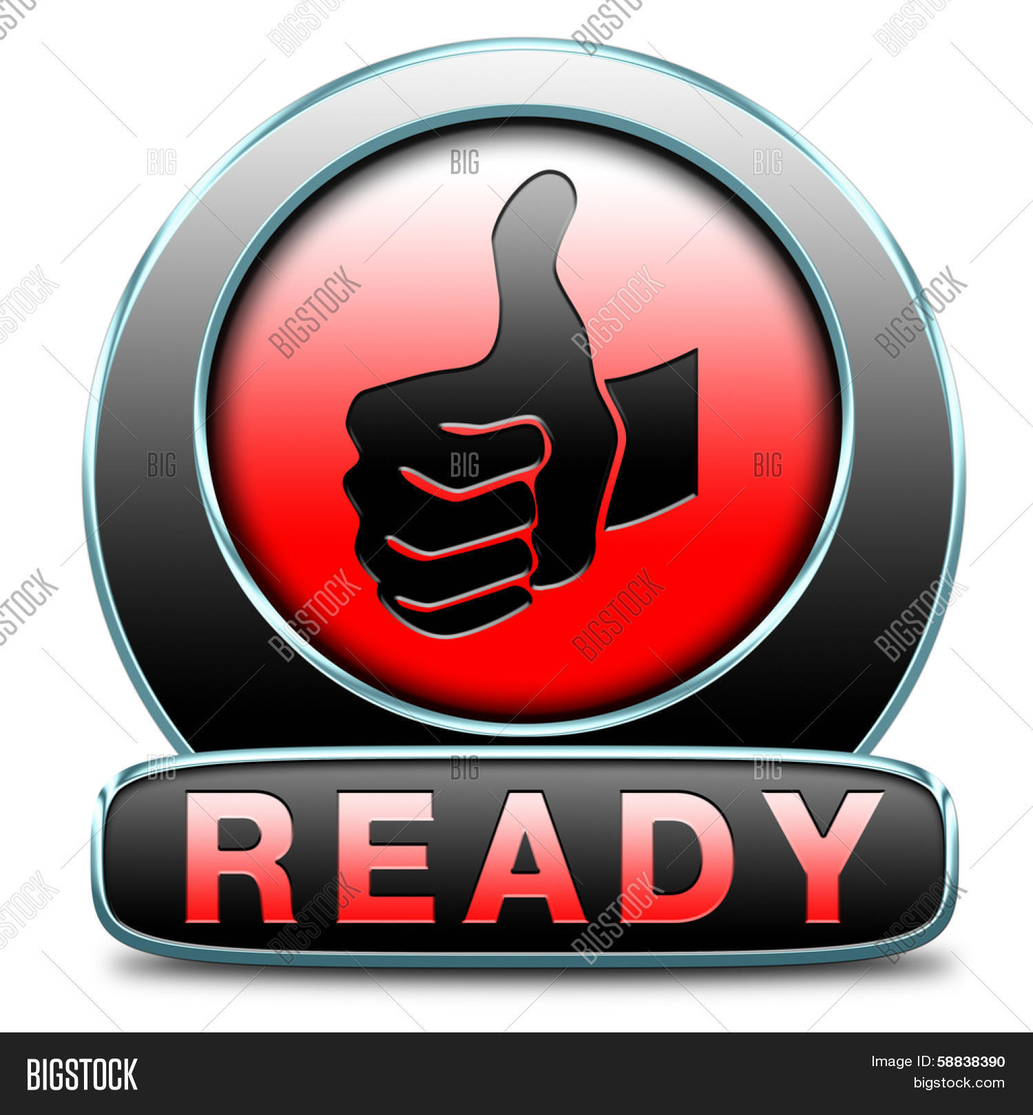 Ready go job done slogan icon sign image photo bigstock for Ready to go images