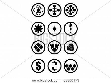 Icon set in circle for inspiration