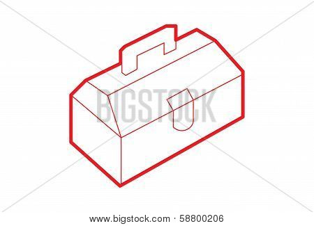Isometric Toolbox illustration - Illustration
