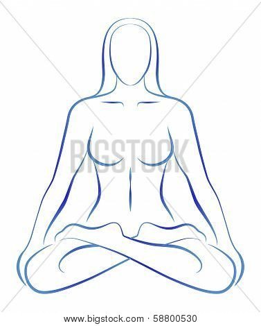 Meditation Yoga Position Woman