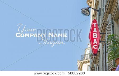 Cigar store sign in Paris
