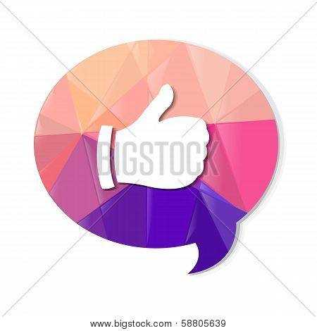 Colorful Speech Bubble With Best Choice Symbol