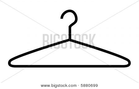 Vector Clothes Hanger  Silhouette