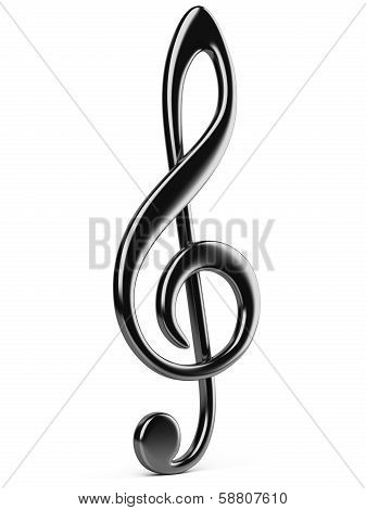 Black Music G Clef.