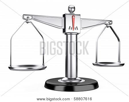 Silver Scales Of Justice Or A Medical Scales