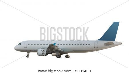 Isolated Jet Airliner