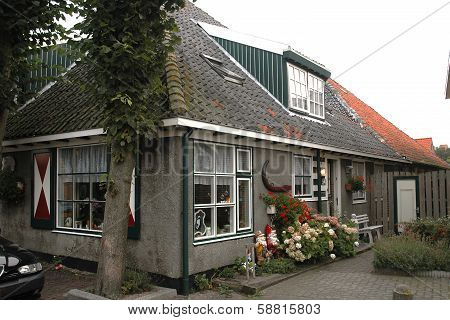 A typical historic house in the village of Egmond Binnen, Holland
